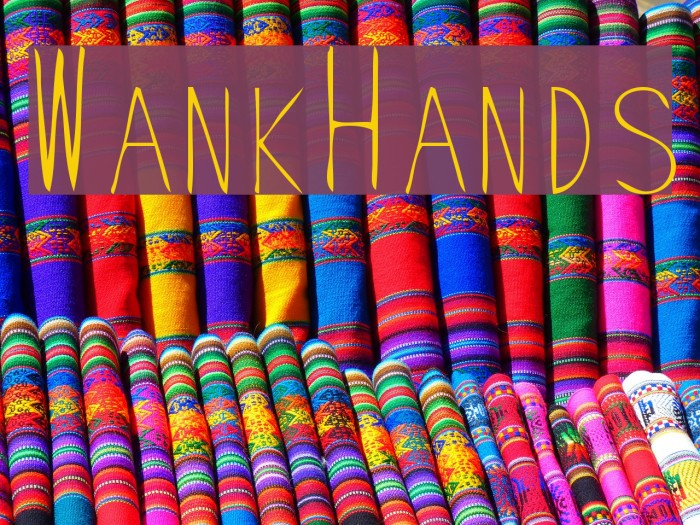 WankHands Font examples