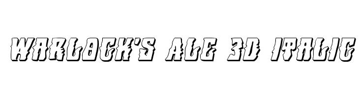 Warlock's Ale 3D Italic  Fuentes Gratis Descargar