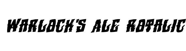 Warlock's Ale Rotalic  フリーフォントのダウンロード
