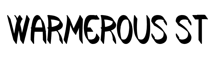 Warmerous St  Free Fonts Download