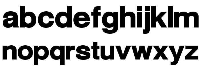 Warownia Ultra Extended Font LOWERCASE