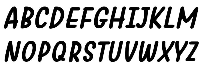 Warung Kopi Bold Italic Font UPPERCASE