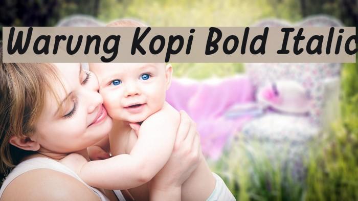Warung Kopi Bold Italic Шрифта examples