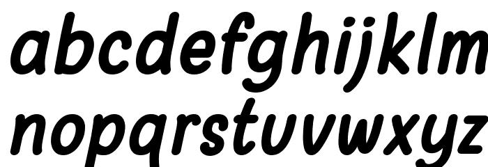 Warung Kopi Bold Italic Font LOWERCASE