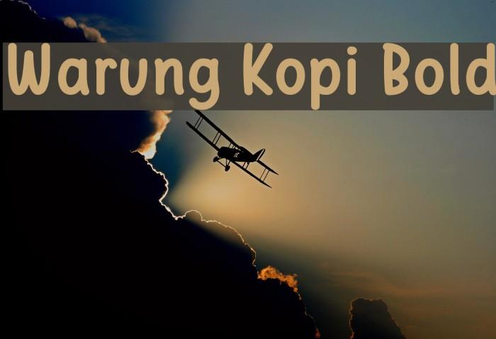 Warung Kopi Bold Fuentes examples