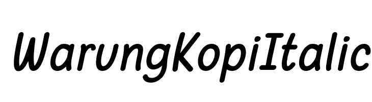 Warung Kopi Italic  Free Fonts Download