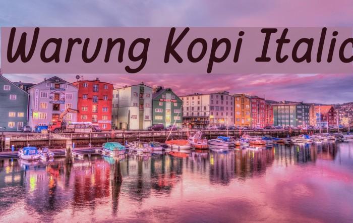 Warung Kopi Italic Шрифта examples