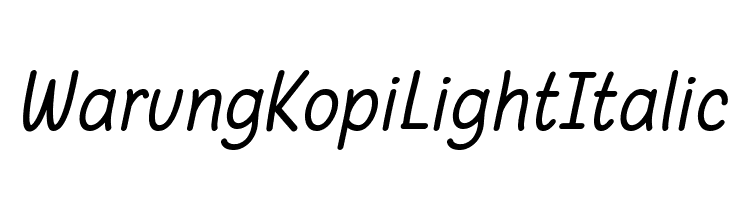 Warung Kopi Light Italic  Free Fonts Download