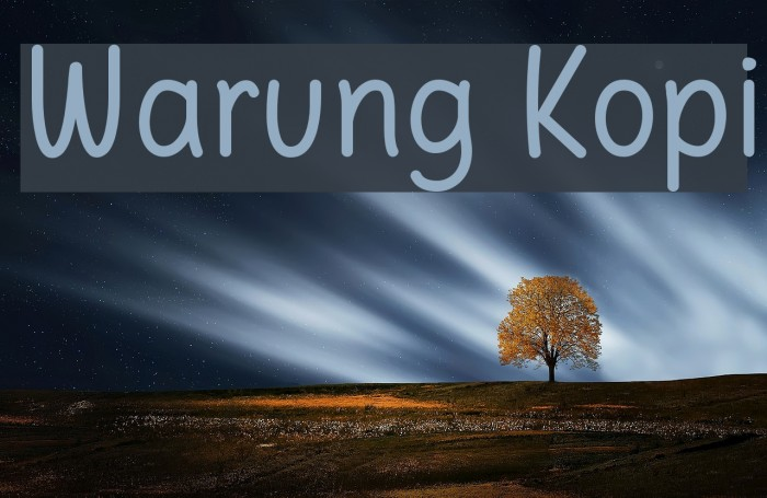 Warung Kopi Font examples