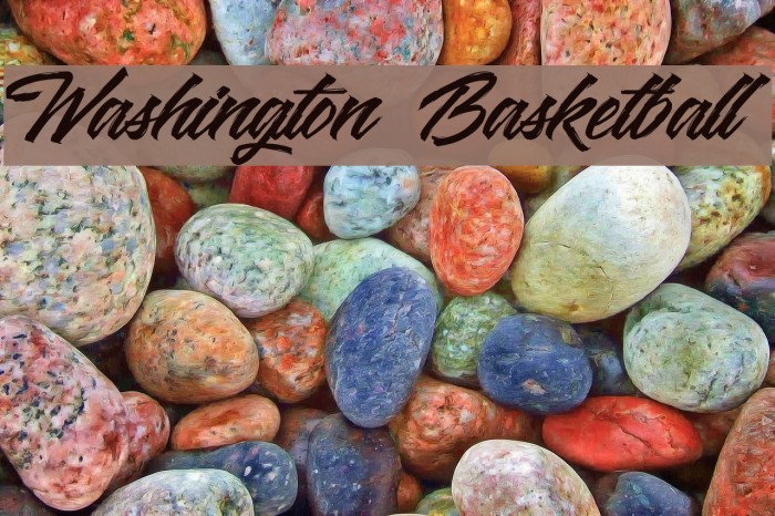 Washington Basketball Font examples