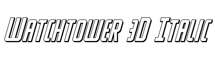 Watchtower 3D Italic  baixar fontes gratis