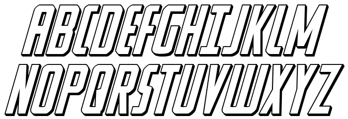 Watchtower 3D Italic Шрифта ВЕРХНИЙ