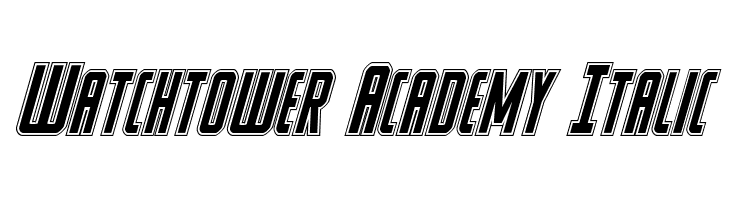 Watchtower Academy Italic  Free Fonts Download