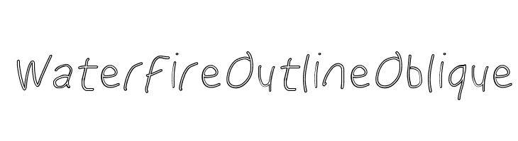 WaterFire Outline Oblique  baixar fontes gratis