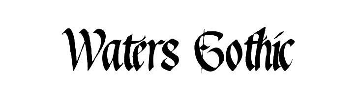 Waters Gothic  Free Fonts Download