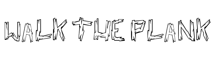 walk the plank  Free Fonts Download