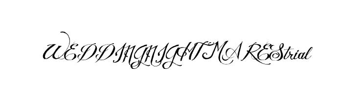 WEDDINGNIGHTMAREStrial  Free Fonts Download