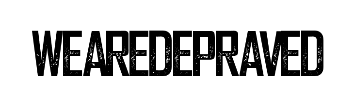 WeareDepraved  Free Fonts Download