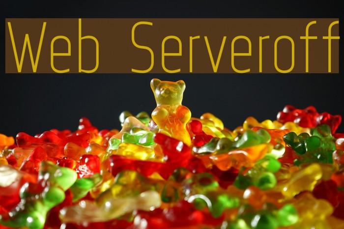 Web Serveroff Font examples