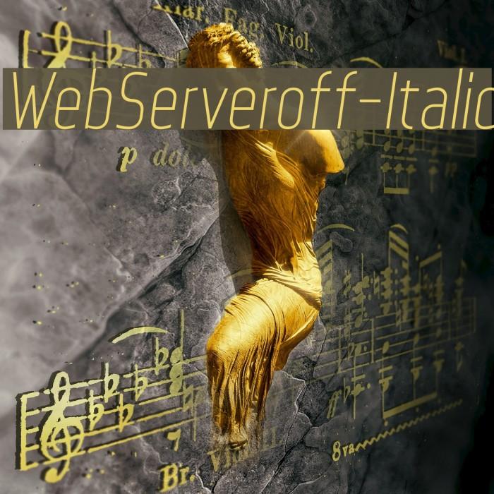 WebServeroff-Italic Font examples