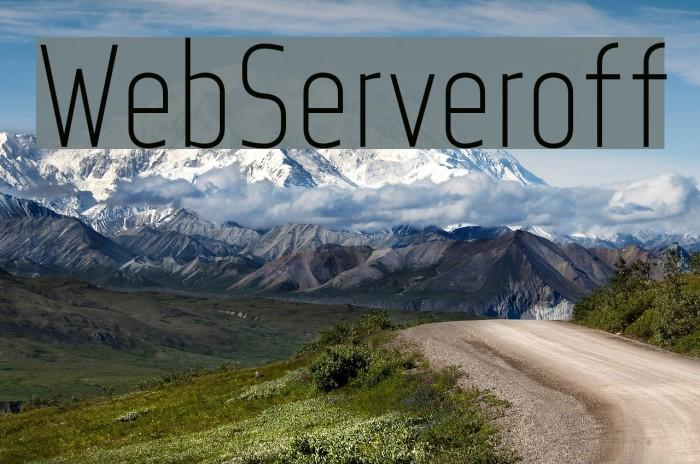 WebServeroff Font examples