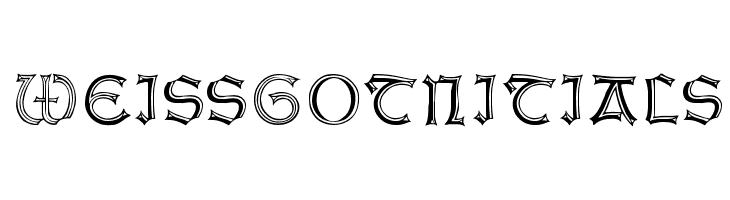 WeissGotnitials  Free Fonts Download