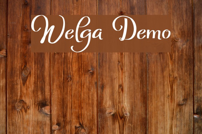 Welga Demo フォント examples