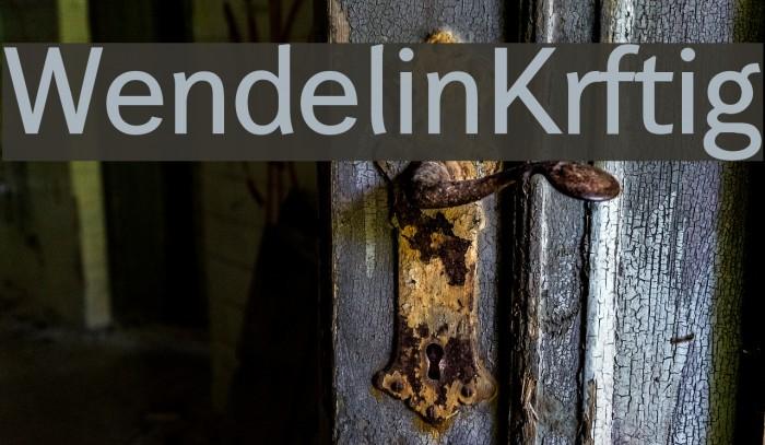 Wendelin-Krftig Font examples