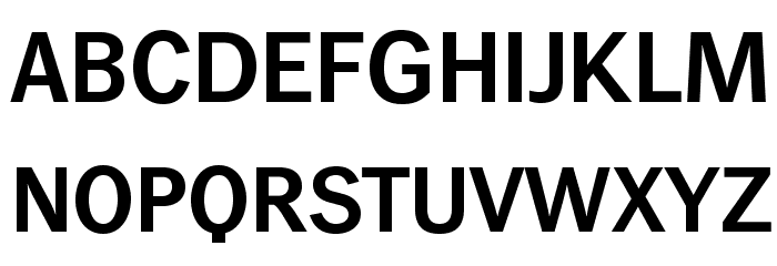 WendelinReduced-Halbfett फ़ॉन्ट अपरकेस