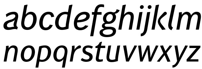 WendelinReduced-KraeftigKursiv Font LOWERCASE