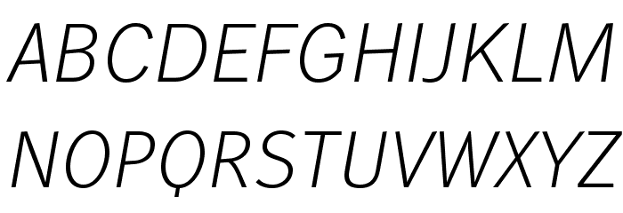WendelinReduced-LeichtKursiv फ़ॉन्ट अपरकेस