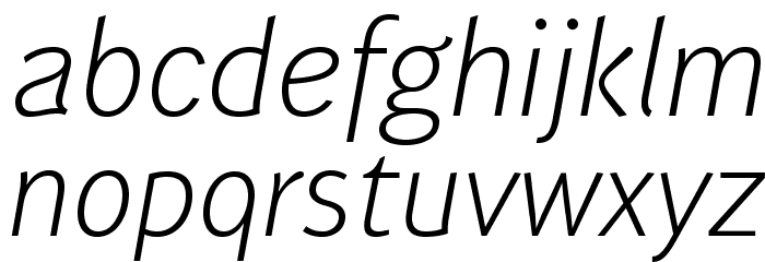 WendelinReduced-LeichtKursiv फ़ॉन्ट लोअरकेस