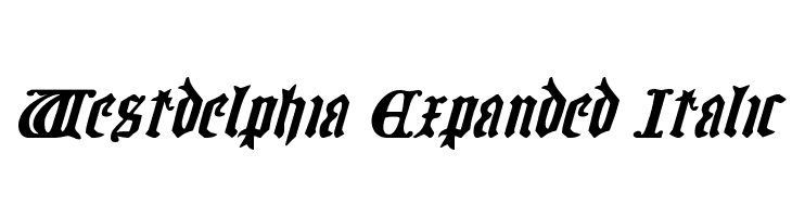 Westdelphia Expanded Italic  Free Fonts Download