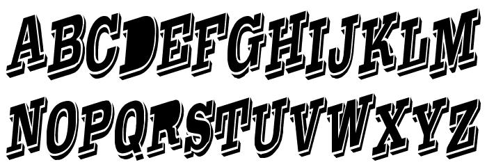 WesternSlant Regular Font UPPERCASE