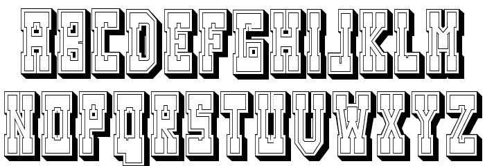 Westerngames Outline Regular Font UPPERCASE