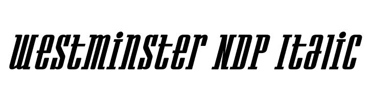 Westminster NDP Italic  Скачать бесплатные шрифты