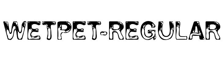 WetPet-Regular  नि: शुल्क फ़ॉन्ट्स डाउनलोड