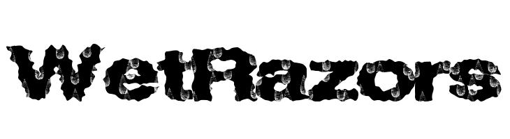 WetRazors  Скачать бесплатные шрифты
