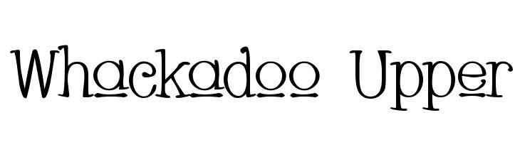 Whackadoo Upper  नि: शुल्क फ़ॉन्ट्स डाउनलोड