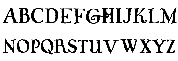 Whiffy Font UPPERCASE
