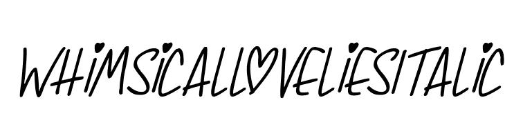 Whimsical Lovelies Italic  لخطوط تنزيل