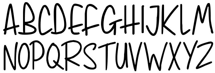 Whimsical Lovelies Font UPPERCASE