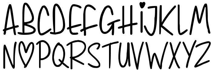 Whimsical Lovelies Font LOWERCASE
