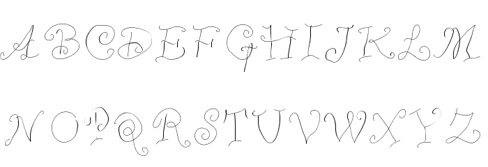 WhimsyWischy Font UPPERCASE