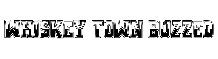 Whiskey Town Buzzed  font caratteri gratis