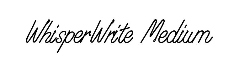 WhisperWrite Medium  Free Fonts Download