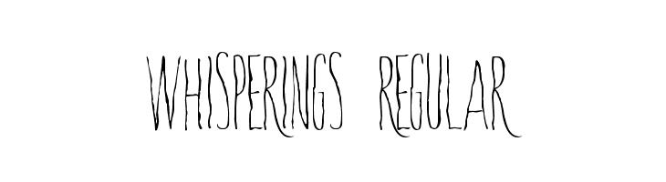 Whisperings-Regular  baixar fontes gratis