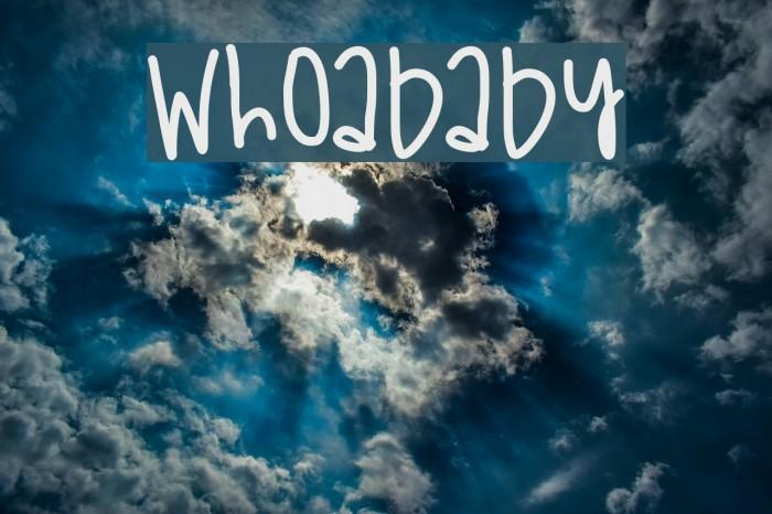 WhoaBaby फ़ॉन्ट examples