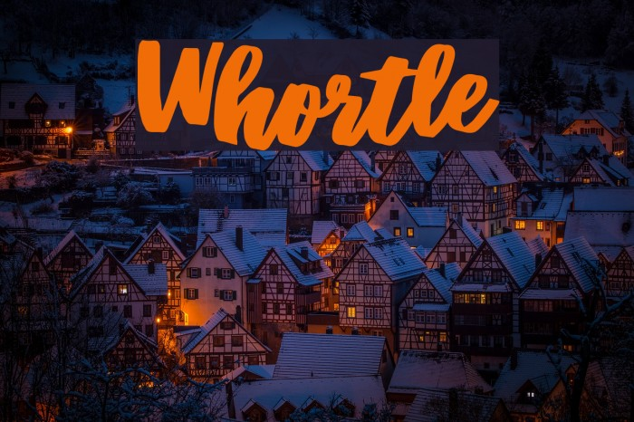 Whortle Font examples