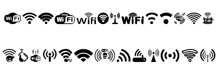 WIFI Font UPPERCASE
